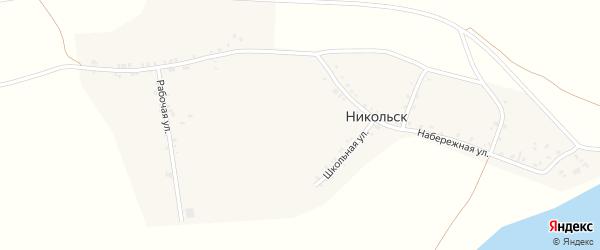 Рабочая улица на карте села Никольска с номерами домов