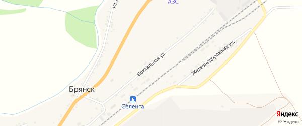 Вокзальная улица на карте села Брянска с номерами домов
