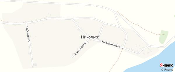 Набережная улица на карте села Никольска с номерами домов
