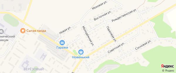 Молодежная улица на карте поселка Селенгинска с номерами домов