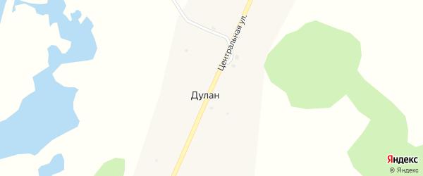 Центральная улица на карте улуса Дулан с номерами домов