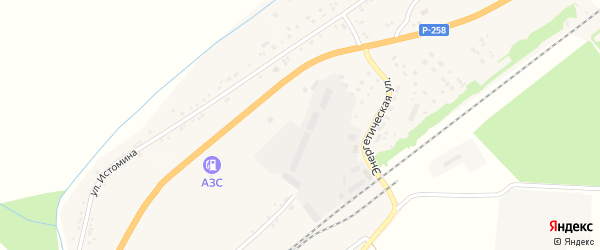 Солнечная улица на карте села Брянска с номерами домов
