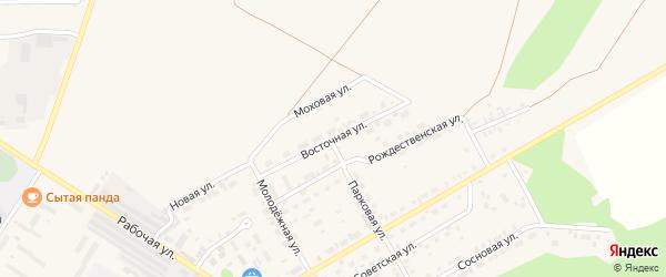 Восточная улица на карте садового некоммерческого товарищества Таежного с номерами домов