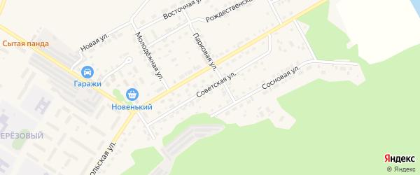 Советская улица на карте поселка Селенгинска с номерами домов