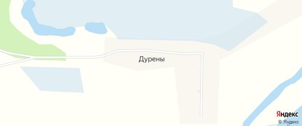 Школьная улица на карте села Дурены с номерами домов