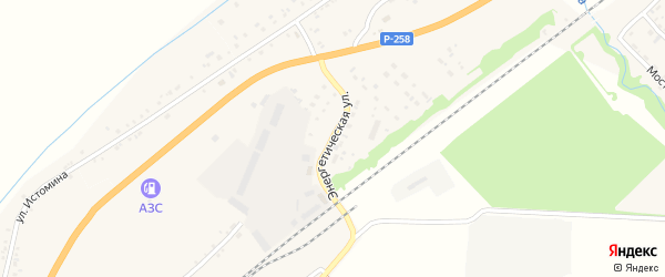 Энергетическая улица на карте села Брянска с номерами домов