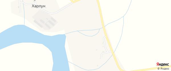 Октябрьская улица на карте поселка Харлуна с номерами домов
