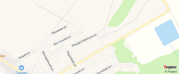 Рождественская улица на карте поселка Селенгинска с номерами домов