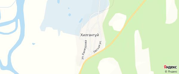 Карта улуса Хилгантуй в Бурятии с улицами и номерами домов
