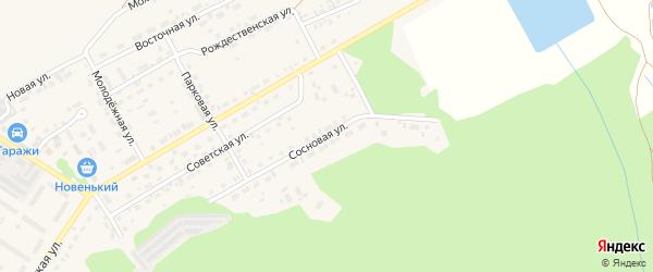 Сосновая улица на карте поселка Селенгинска с номерами домов
