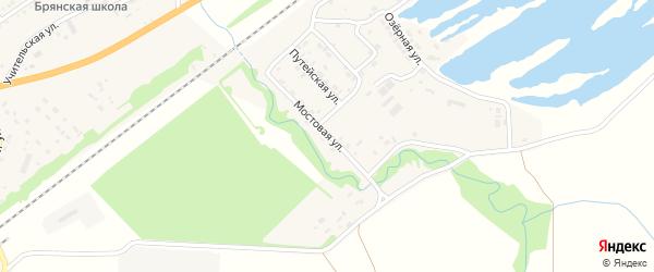 Мостовая улица на карте садового некоммерческого товарищества Черемушки с номерами домов