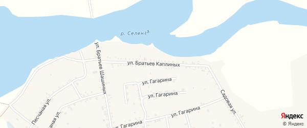 Улица Братьев Каплиных на карте села Тресково с номерами домов