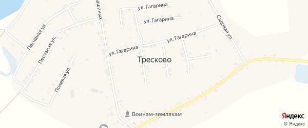 Километр 5565 на карте села Тресково с номерами домов