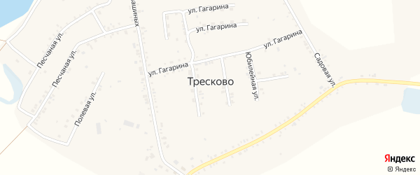 Ушаковская улица на карте села Тресково с номерами домов