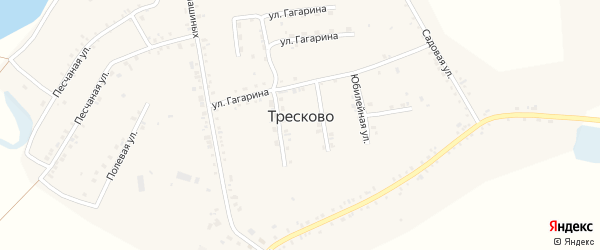 Юбилейная улица на карте села Тресково с номерами домов
