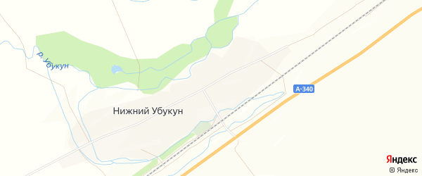 Карта села Нижнего Убукуна в Бурятии с улицами и номерами домов