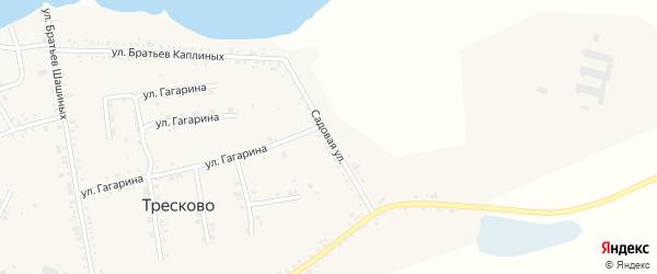 Садовая улица на карте села Тресково с номерами домов