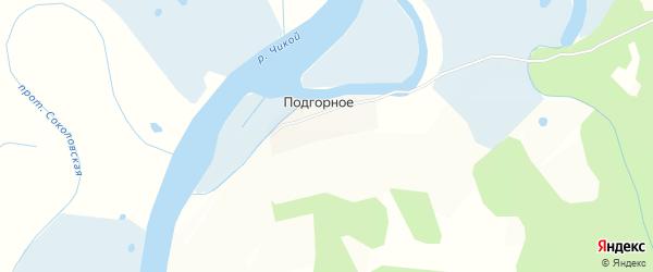 Карта Подгорного села в Бурятии с улицами и номерами домов