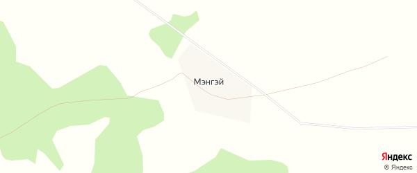 Карта улуса Мэнгэй в Бурятии с улицами и номерами домов