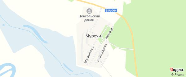 Карта улуса Мурочи в Бурятии с улицами и номерами домов
