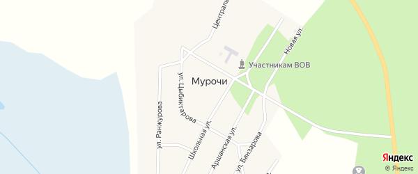 Центральная улица на карте улуса Мурочи с номерами домов
