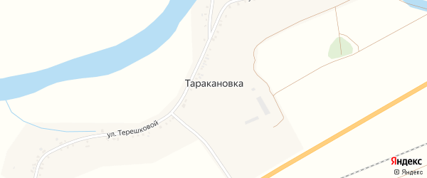 Улица КП на карте села Таракановка с номерами домов