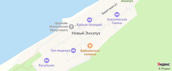 Солнечный переулок на карте поселка Нового Энхэлука с номерами домов