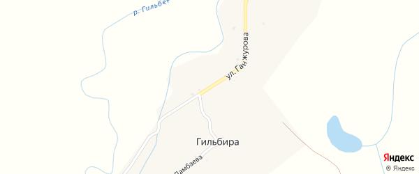 Улица Ганжурова на карте улуса Гильбира с номерами домов