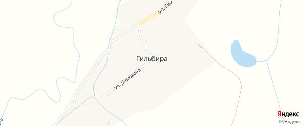 Улица Дамбаева на карте улуса Гильбира с номерами домов