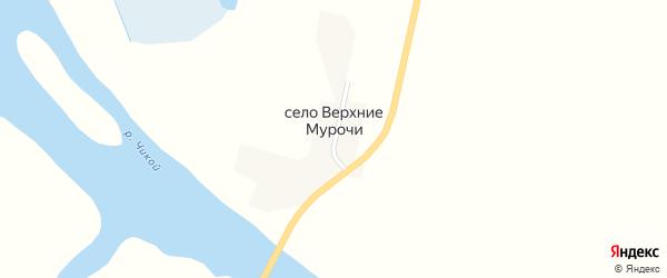 Придорожная улица на карте села Верхние Мурочи с номерами домов