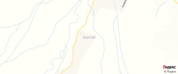Падь Березовая местность на карте улуса Гильбира с номерами домов