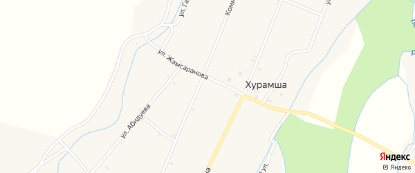 Местечко Хал на карте улуса Хурамша с номерами домов