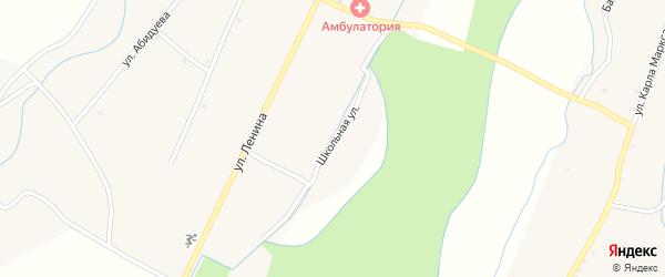 Школьная улица на карте улуса Хурамша с номерами домов