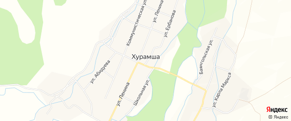 Карта улуса Хурамша в Бурятии с улицами и номерами домов