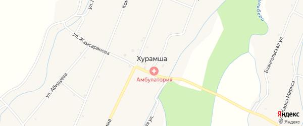 Местечко Олзон на карте улуса Хурамша с номерами домов