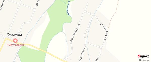 Баянгольская улица на карте села Кокорино с номерами домов