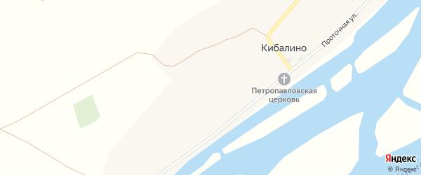 Проточная улица на карте села Кибалино с номерами домов