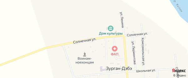 Солнечная улица на карте улуса Зурган-Дэбэ с номерами домов