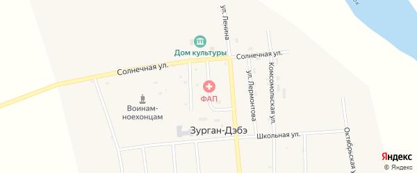 Колхозная улица на карте улуса Зурган-Дэбэ с номерами домов