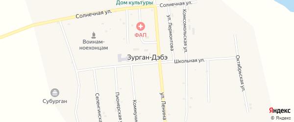 Колхозный переулок на карте улуса Зурган-Дэбэ с номерами домов