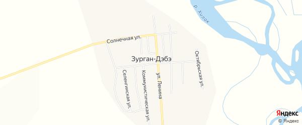 Карта улуса Зурган-Дэбэ в Бурятии с улицами и номерами домов