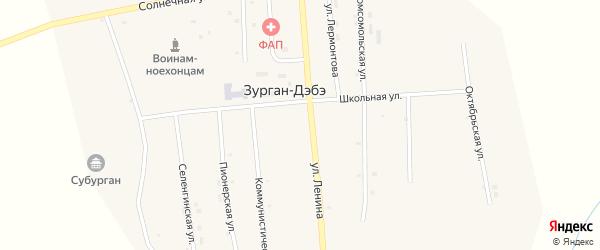 Коммунистическая улица на карте улуса Зурган-Дэбэ с номерами домов