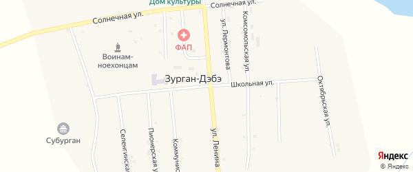 Школьная улица на карте улуса Зурган-Дэбэ с номерами домов