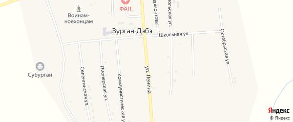 Улица Ленина на карте улуса Зурган-Дэбэ с номерами домов