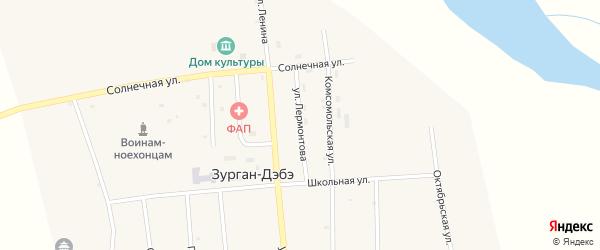 Улица Лермонтова на карте улуса Зурган-Дэбэ с номерами домов