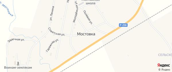 Сельскохозяйственный микрорайон на карте села Мостовки с номерами домов