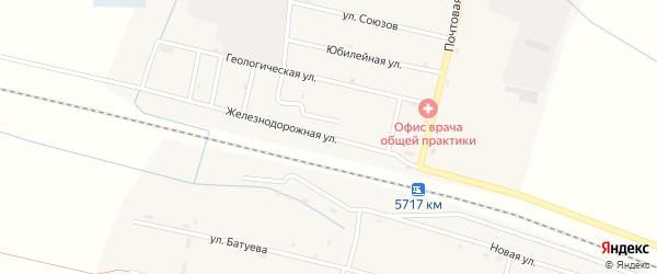 Железнодорожная улица на карте Оронгой поселка с номерами домов