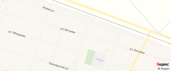Улица Батуева на карте Оронгой улуса с номерами домов