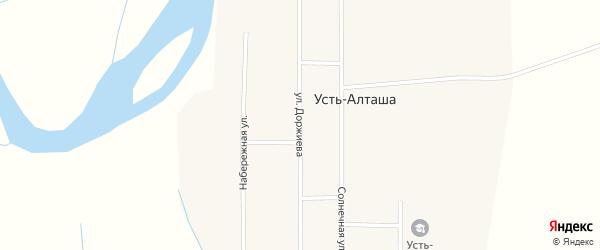 Улица Доржиева на карте улуса Усть-Алташа с номерами домов