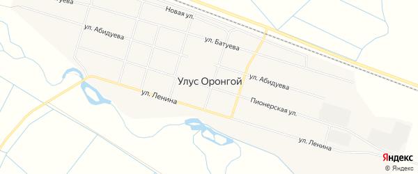 Карта Оронгой улуса в Бурятии с улицами и номерами домов